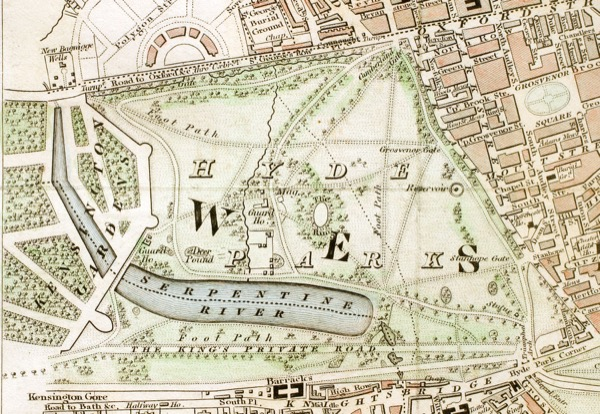 Hyde Park London in 1833. © Wiki Commons