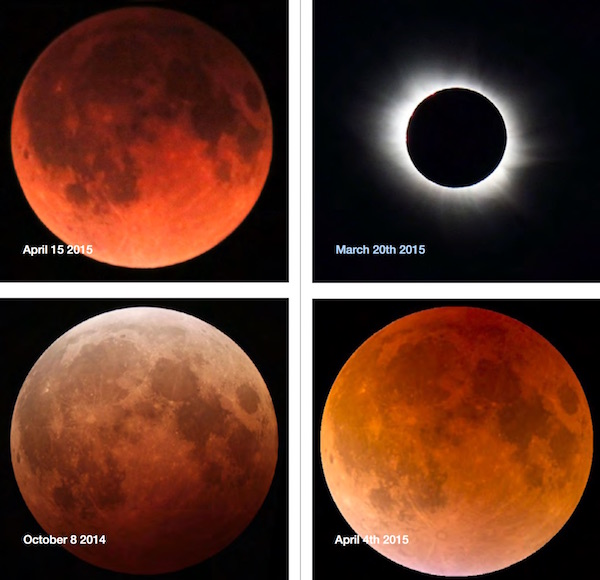 "The idea of a ""blood moon"" serving as an omen of the coming of the end times comes from the Book of Joel. Many predicted the second coming of Jesus to occur in 2015 but when the prediction failed, articles and blog posts on the Internet were deleted by the authors. (Accessed via Wiki Commons)"