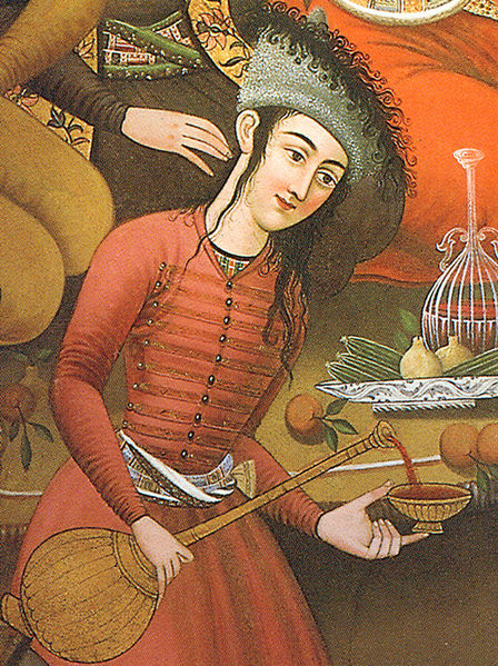 All alcohol consumption is prohibited by Islamic law, although there has been a tradition of drinking wine in some Islamic areas, including Persia. This image is of a 17th Century Persian woman pouring wine and is taken from a wall painting inside the Chehel Sotoun Palace. (Accessed via Wiki Commons)