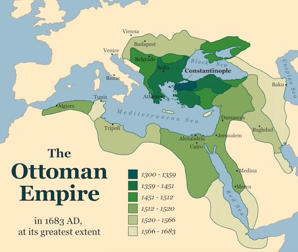 The Ottoman empire ruled over much of the Muslim world but eventually dissolved in the 1920s. © Peter Hermes Furian | Shutterstock