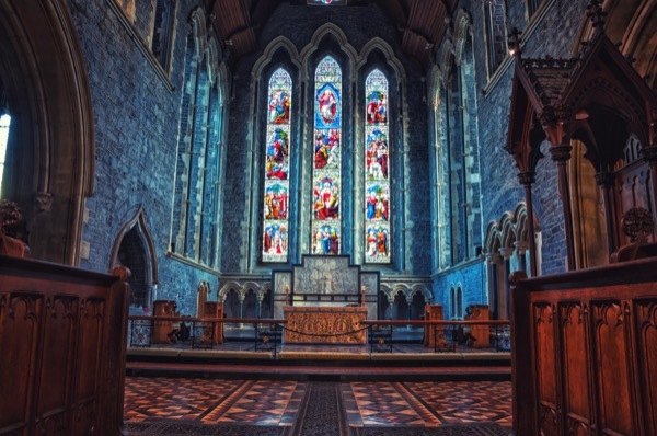 Stain glass windows of a Church in Ireland which portrays the story of Jesusas. © M.V. Photography | Shutterstock.com